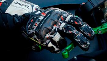 Guantes de moto de carreras