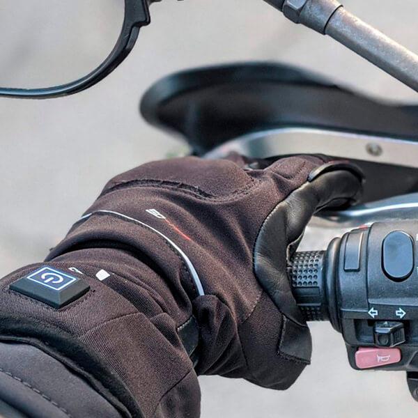 Guante de moto calefactable